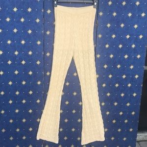 Free People Flare Boot Cut Crochet Pants Small